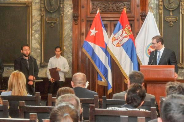 Cumple intensa agenda en Cuba mandatario serbio