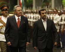 Raúl Castro recibe a Presidente iraní