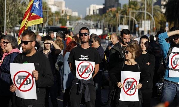Separatistas catalanes contra visita del rey de España a Barcelona
