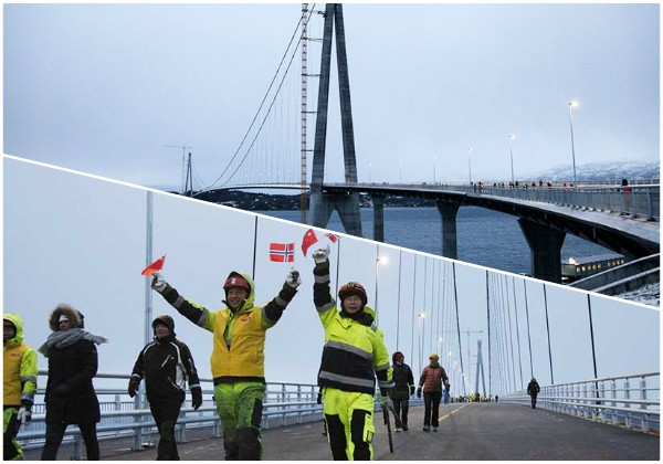 Abierto al tráfico en Noruega puente colgante más largo del círculo polar ártico