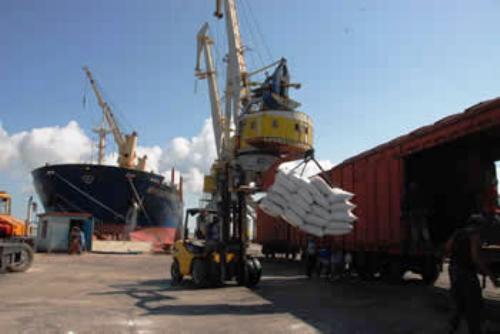 Recibe puerto de Nuevitas más de 14 mil toneladas de arroz