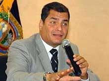 Rafael Correa: continente Antártico es símbolo de paz