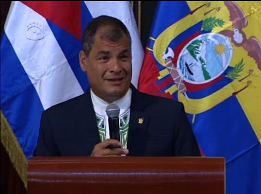 Rafael Correa recibe Doctorado Honoris Causa en la Universidad de La Habana (+Audio y Video)