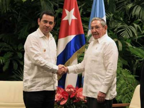 Raul Castro Receives Heads of State and Government of ACS Summit