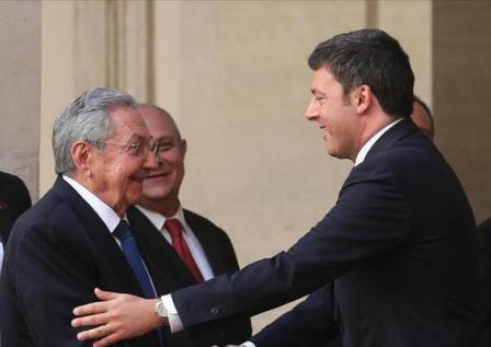 Recibe Raúl a Primer Ministro de Italia y saluda a General  vietnamita