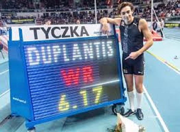 Duplantis impone récord mundial en salto con pértiga bajo techo