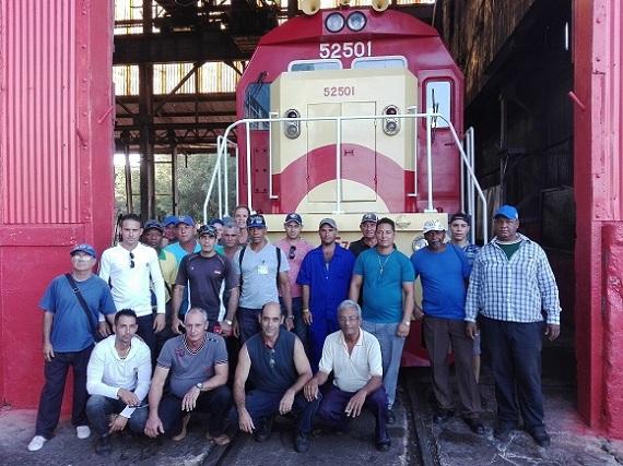 Recuperan en Talleres Ferroviarios Camagüey locomotora de primer lote chino llegado a Cuba (+ Video)