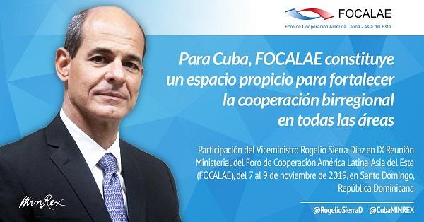Participa Vicecanciller cubano en foro de cooperación América Latina-Asia del Este