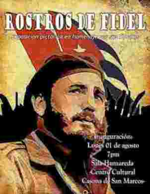 Todos los rostros de Fidel en muestra pictórica de Perú