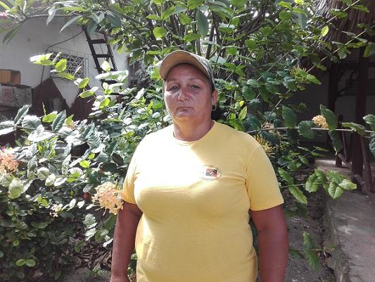 Saraí, una mujer empeñada en sacarle frutos a la tierra
