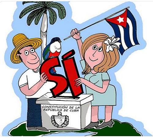 El 86,85 % de los cubanos que votaron ratificó su nueva Constitución