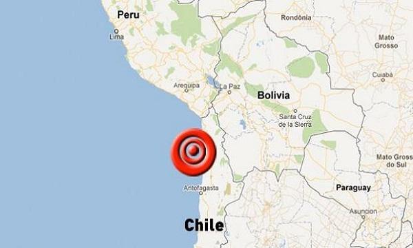 Sismo de cinco grados en zona norte de Chile