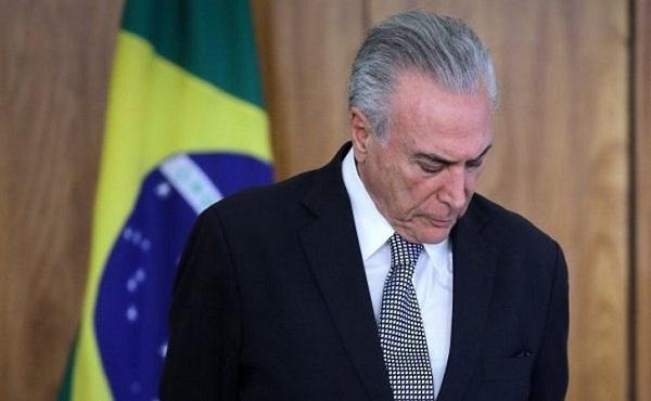 Exmandatario brasileño Michel Temer se entrega a la Justicia