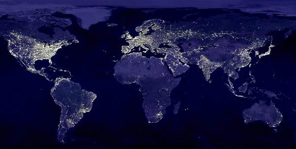 Crece cada año superficie iluminada de la Tierra