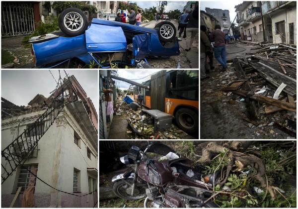 Suman cuatro los fallecidos y 195 los lesionados por tornado en La Habana