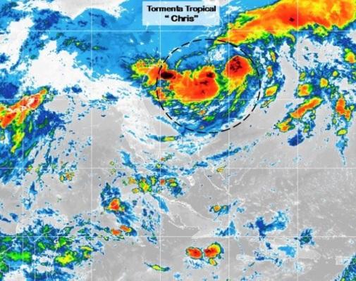 Tercera depresión tropical de la temporada es ahora la tormenta tropical Chris