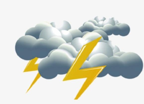 Nublados con aisladas precipitaciones y tormentas eléctricas