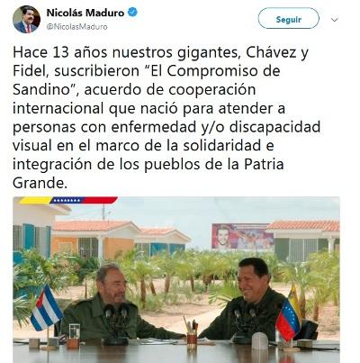 Presidente venezolano recuerda programa internacional de Salud ideado por Fidel y Chávez
