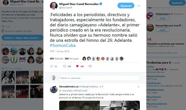 Presidente cubano felicita al periódico Adelante de Camagüey por sus 60 años (+Tuits, Posts y Fotos)