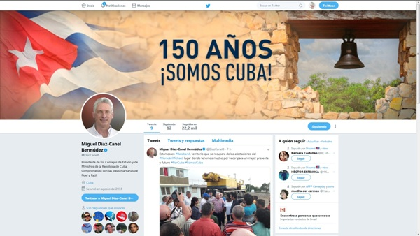 Bolivia and Venezuela presidents commend presence of Díaz-Canel in Twitter