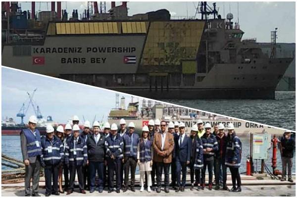 Cuba dispondrá de central eléctrica flotante fabricada en Turquía