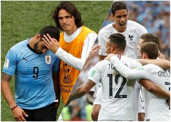 Uruguay se despide del Mundial, Francia es el primer semifinalista