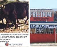 En Miami, terrorista exhibe sus pinturas, y retiran valla a favor de Los Cinco