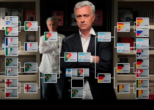 Mourinho predice resultados del Mundial de Fútbol 2018