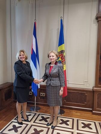 La vice-ministre cubaine des Affaires étrangères a échangé avec les plus hautes autorités de la Moldavie