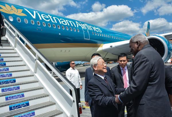 Llegó a Cuba máximo dirigente partidista de Vietnam (+ Fotos)