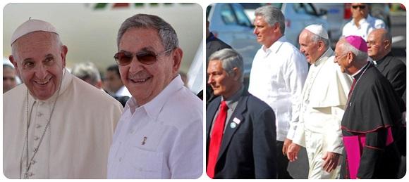 Raúl y Díaz-Canel desean pronta recuperación al Papa Francisco