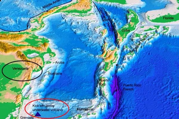 Reducen alerta por actividad volcánica submarina en el Caribe
