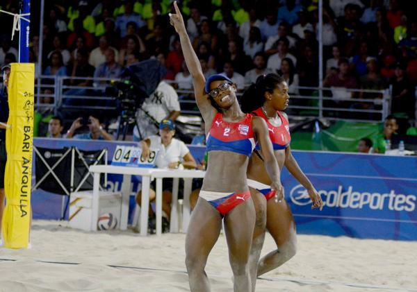 Cuban Women's Beach Volleyball are Central American and Caribbean Gold Medalists