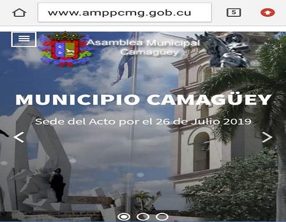 Asamblea Municipal de Gobierno de Camagüey abre portal en el ciberespacio