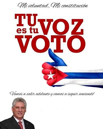 Llama Díaz-Canel a votar por la nueva Constitución